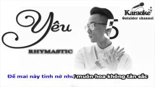 Karaoke Yêu 5 Rhymastic full beat