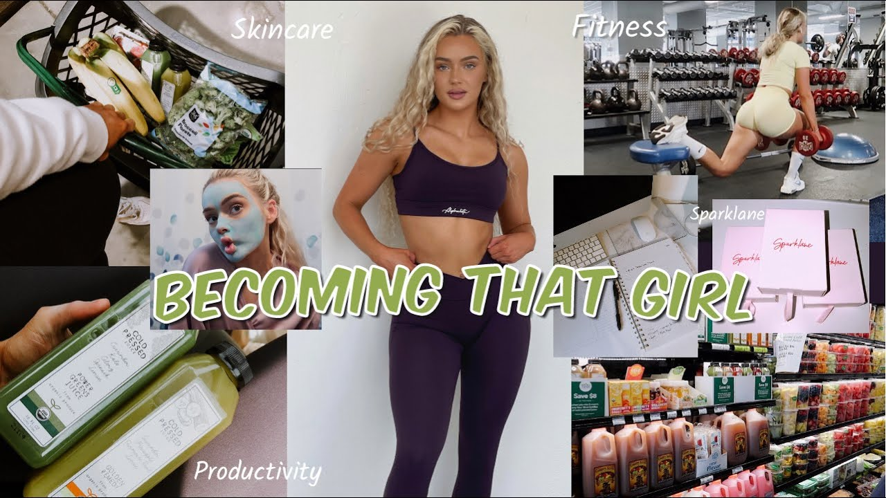 The ULTIMATE Guide To Becoming That Girl Tiktok trend| Journaling, productivity, selfcare & exercise
