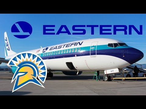 "HD RARE Eastern Airlines Boeing 737-8CX N277EA ""SJSU"" Takeoff from San Jose International Airport"