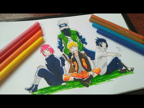 Drawing Team 7||Menggambar Tim 7[NARUTO]