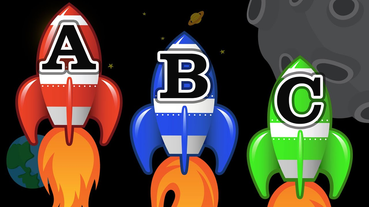 Space Rocket Ships Teaching ABCs