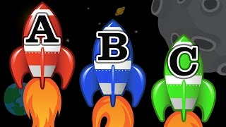 Space Rocket Ships Teaching ABCs - Learning the English Alphabet Video for Children