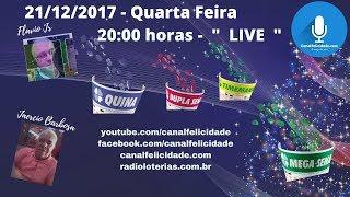 Resultado 21/12/2017  - Quina  - 4562 - D. Sena  concurso 1733 - Mega Sena 1999 - Timemania 1122