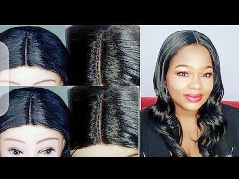 Client Well detailed Wig making Without a Lace Closure.(DIY)
