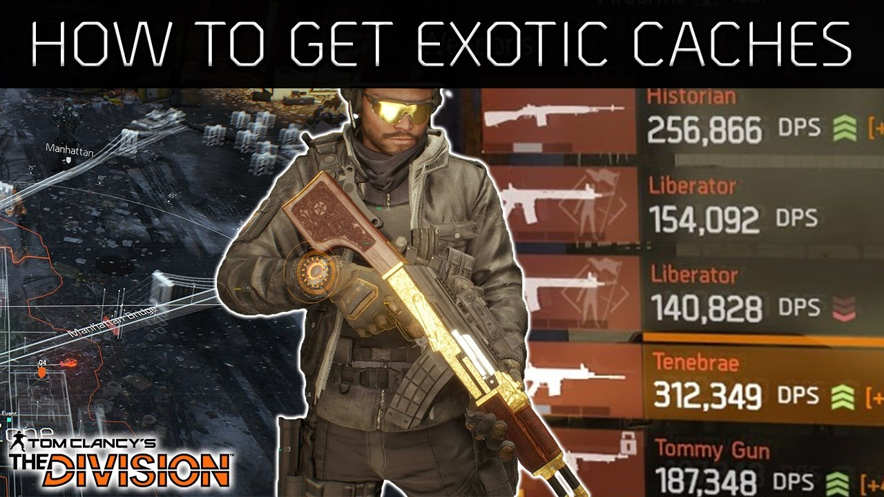 The Division How to Get Exotic Caches | Maximum of 32 a Week