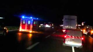 Accident jonction rocade A63