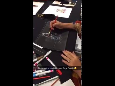 730dd79a954 Fashion Illustrator Rongrong DeVoe live sketch at French Connction Houston  Event