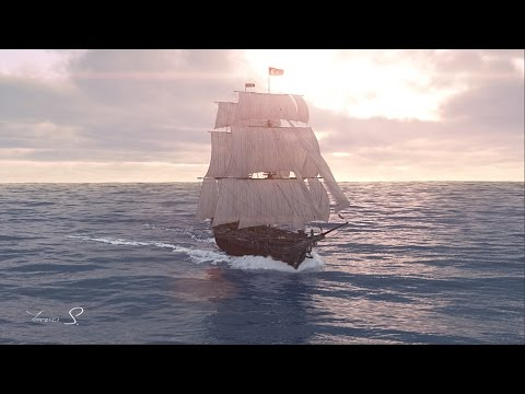 Houdini FX and 3ds Max - Sailing Ship