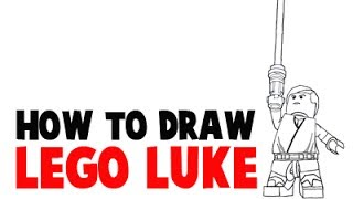 How to Draw Lego Luke from Lego Starwars