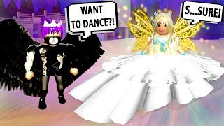 THE DEMON PRINCE ASKS THE ANGEL PRINCESS TO THE DANCE?!  Roblox Royal High School | Roblox Roleplay