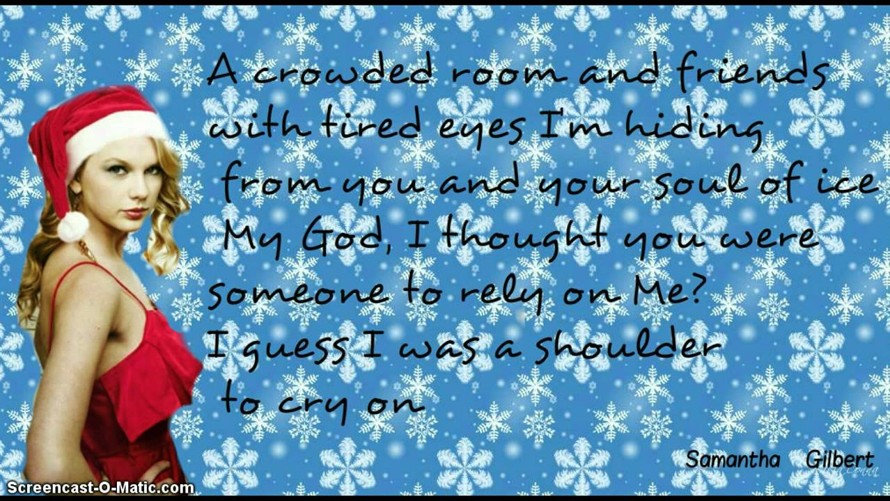 Last Christmas By Taylor swift (Lyrics) - YouTube