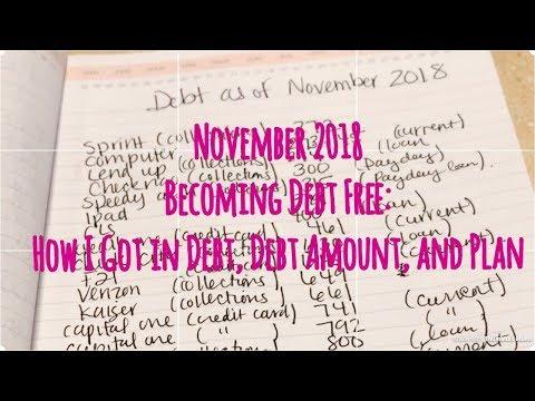 Budget With Me: Total November Debt 2018