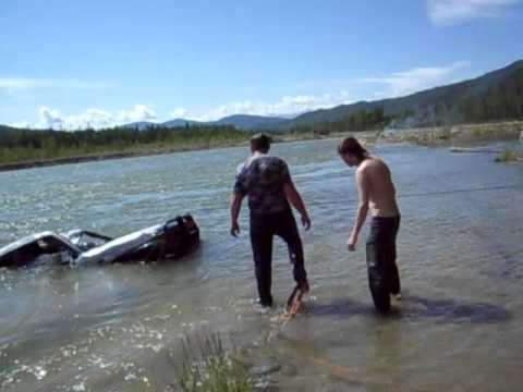 вытащили утонувший Toyota