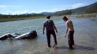вытащили утонувший Toyota prado