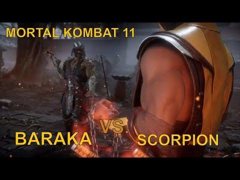 MK11 - Scorpion Vs Baraka and Sub Zero - Mortal Kombat 11 Gameplay