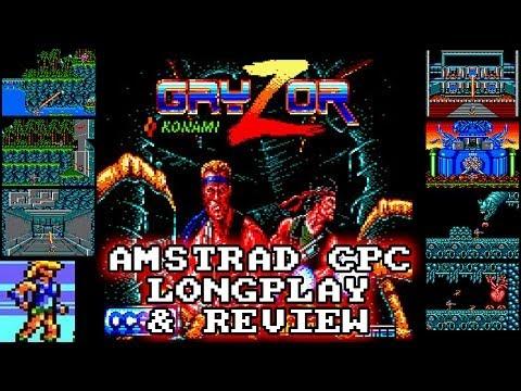 "[AMSTRAD CPC] Gryzor - Longplay & Review (aka ""Contra"") / Speedrun 5min27secs"