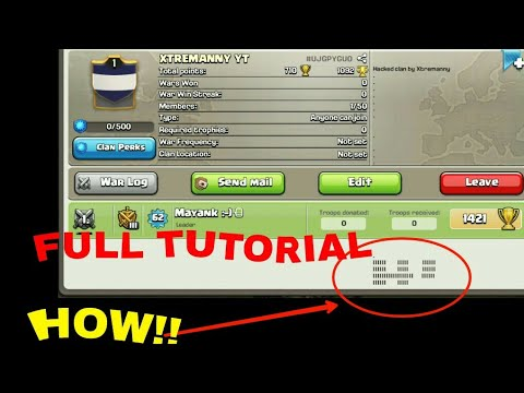 Hack Clan Description In Clash Of Clan HOW TO DO😎