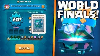 WILL I GET X20 WINS AND LEGENDARY CHEST? :: Clash Royale :: WORLD FINAL CHAMPIONSHIP CHALLENGE!