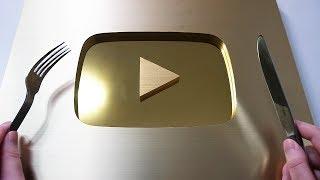 Mukbang Gold Play Button
