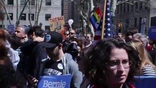 Black Men For Bernie at N.Y. Bernie Rally - April 16, 2016