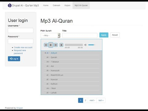 Drupal Al-Quran Mp3 Player -1-  Pendahuluan