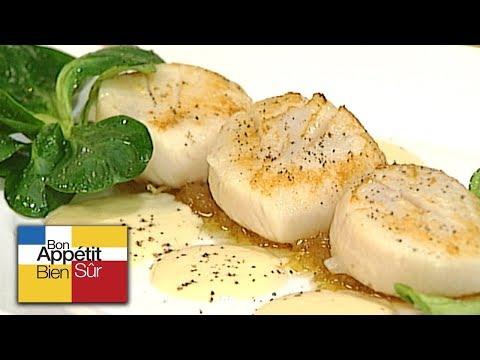 [recette]-noix-de-saint-jacques-rôties,-Émulsion-crémeuse-d'oignon