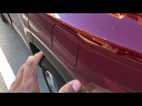 GMC Acadia - How to open gas cap/fuel door