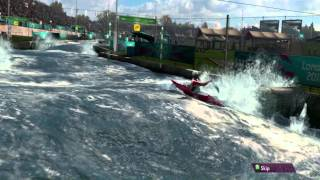 London 2012 The Official Video Game of the Olympic Games Canoeing Gameplay [ PC HD ]