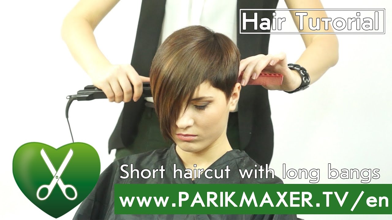 short haircut with long bangs haircut with bangs parikmaxer tv 2090 | maxresdefault