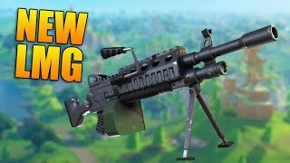 NEW LMG & 50v50 GAMEPLAY! - New Fortnite Update - Fortnite Battle Royale Gameplay