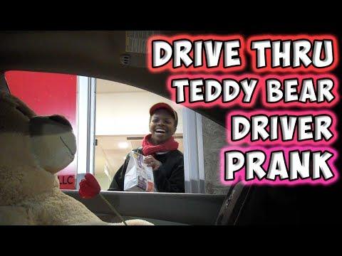 Drive Thru Teddy Bear Driver Prank