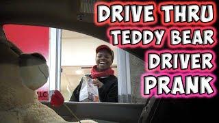 Repeat youtube video Drive Thru Teddy Bear Driver Prank