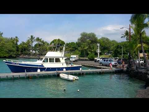 Marina and boat ramp at kona, hawaii