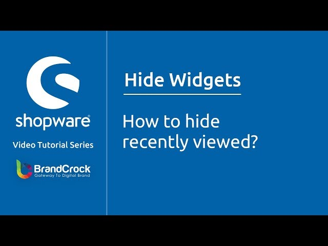 Shopware tutorials : How to hide recently viewed?