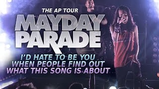 """Mayday Parade - """"I'd Hate To Be You When People Find Out What This Song Is About"""" LIVE! The AP Tour"""