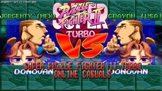 [Fightcade HD] JorgeMTY (MEX) vs. Crayon (USA) - Super Puzzle Fighter II Turbo Online Casuals