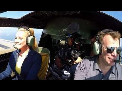 Jamie Colby flies a B-17 bomber