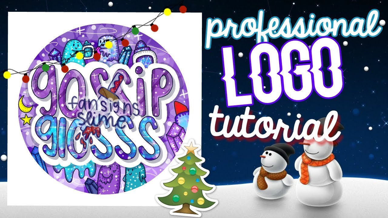 Professional simple logo fansign tutorial easy