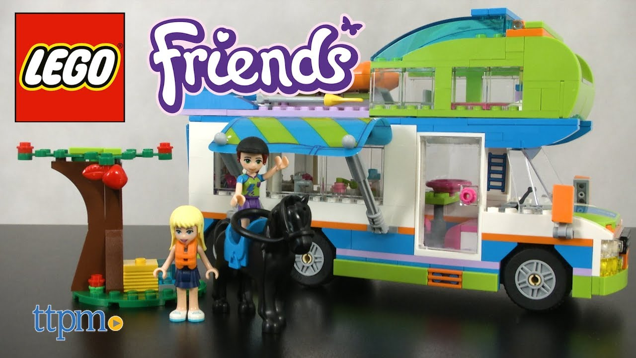 Lego Friends Mias Camper Van From Lego Youtube