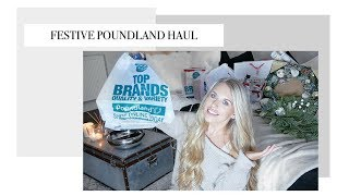 A HUGE POUNDLAND HAUL £1 FESTIVE FINDS | Freya Farrington