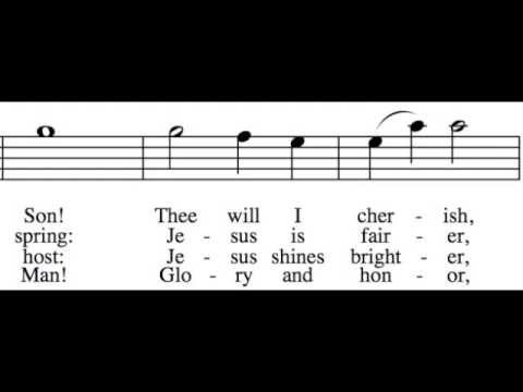 Fairest Lord Jesus - Tenor Only - Learn How to Sing Hymns