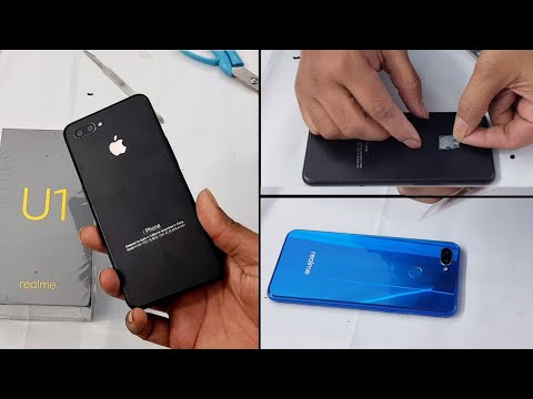 Realme U1 Converted in Iphone XR with apple lamination decorate trick