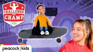 Massive Skateboard Challenge! (ft. X Games Gold Medalist Brighton Zeuner) | CHALLENGE THE CHAMPS