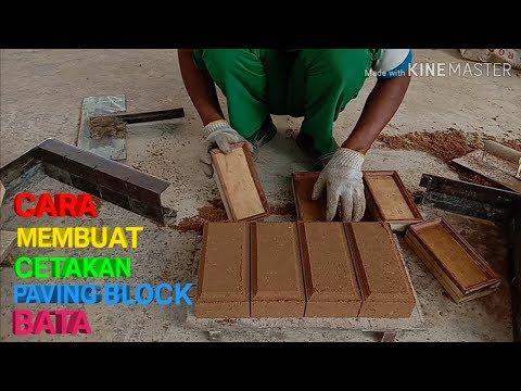 CARA MEMBUAT CETAKAN PAVING BLOCK BATA MANUAL