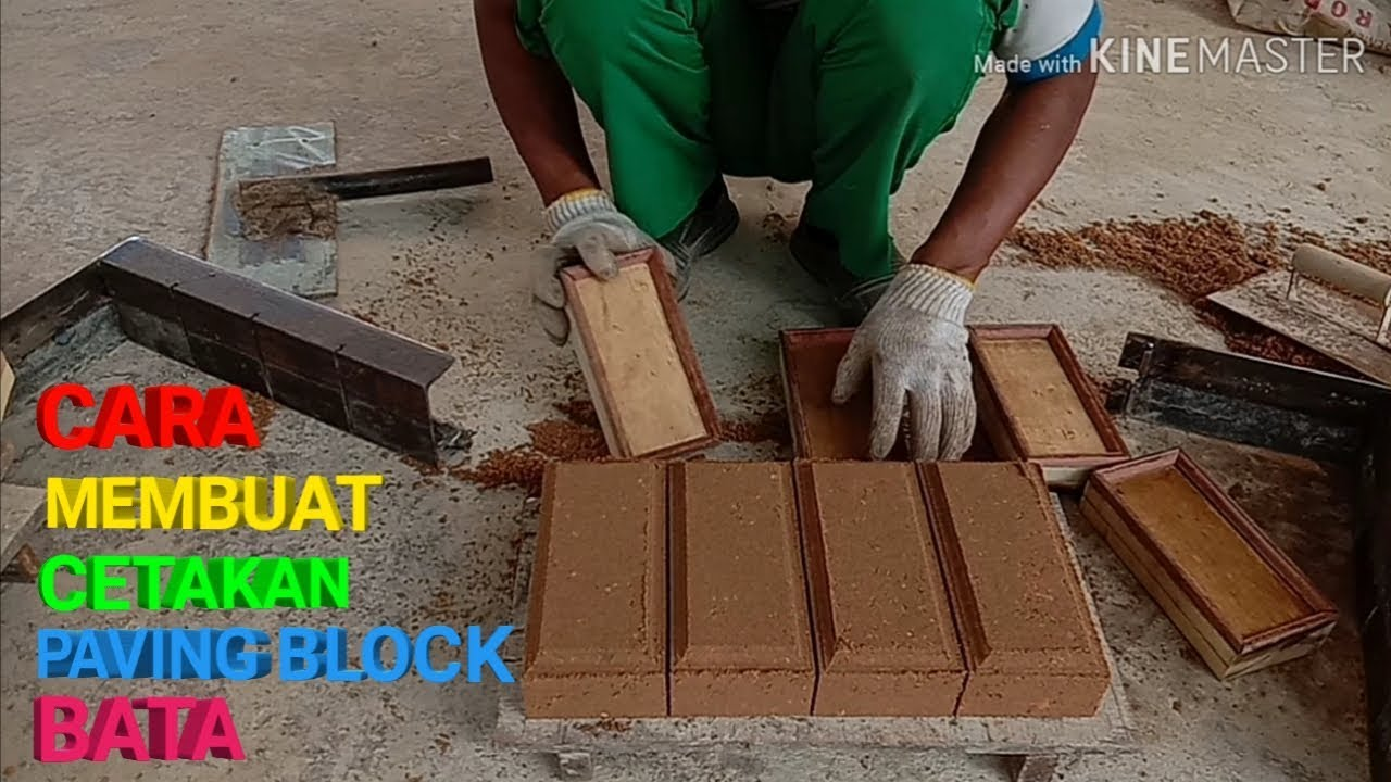 CARA MEMBUAT CETAKAN PAVING BLOCK BATA MANUAL - YouTube