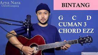 Chord Gampang (BINTANG - ANIMA) Arya Nara (Tutorial Gitar) Pemula