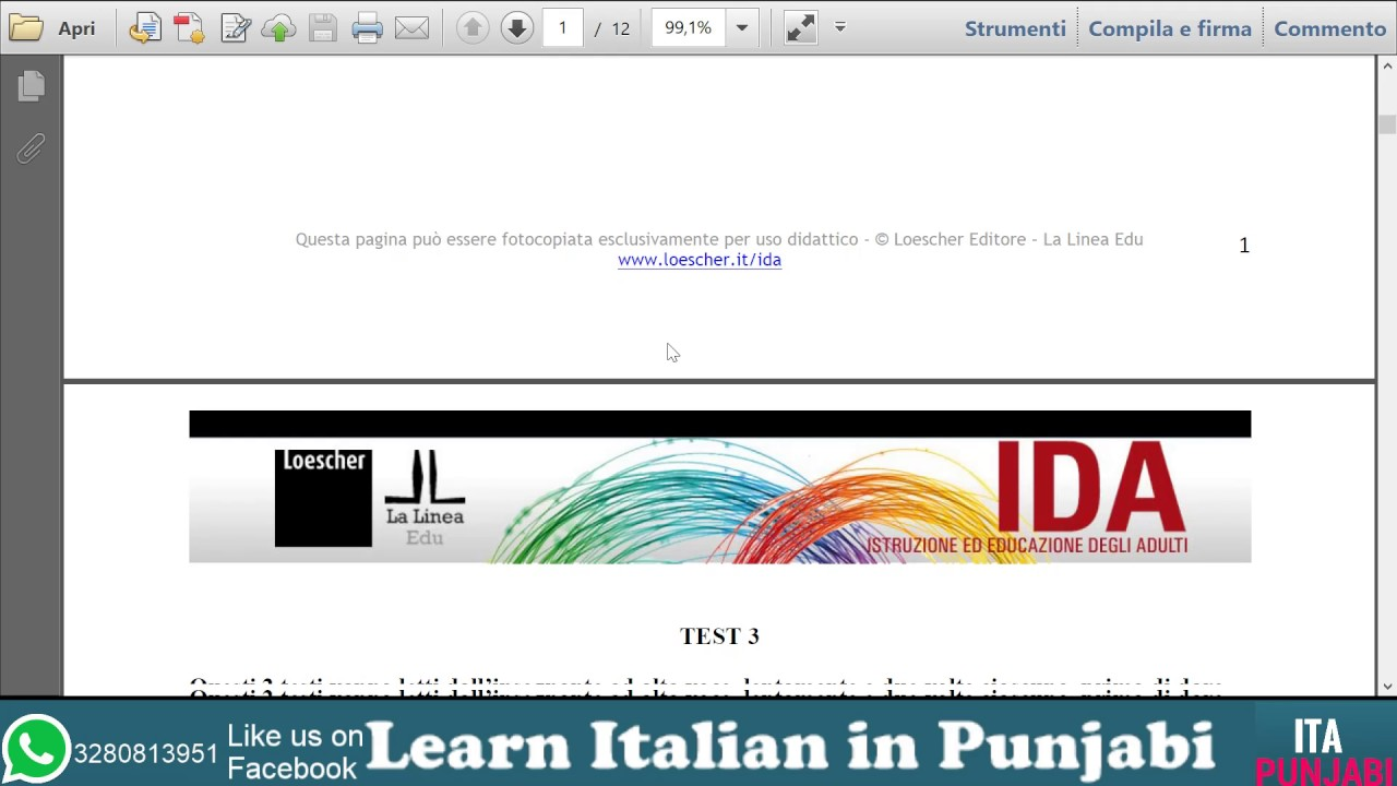Test carta di soggiorno FAQ-SIMILE part 1 - in punjabi - YouTube