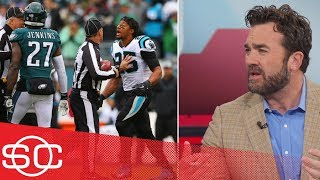 Malcolm Jenkins, Eric Reid altercation starts off Panthers' win over the Eagles | SportsCenter