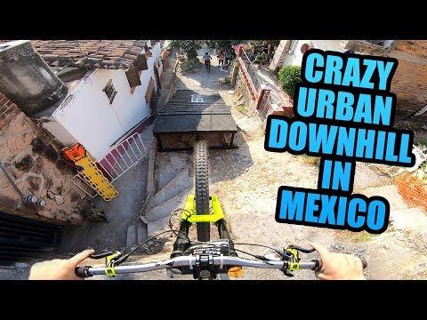 CRAZY URBAN MTB DOWNHILL TRACK IN MEXICO!