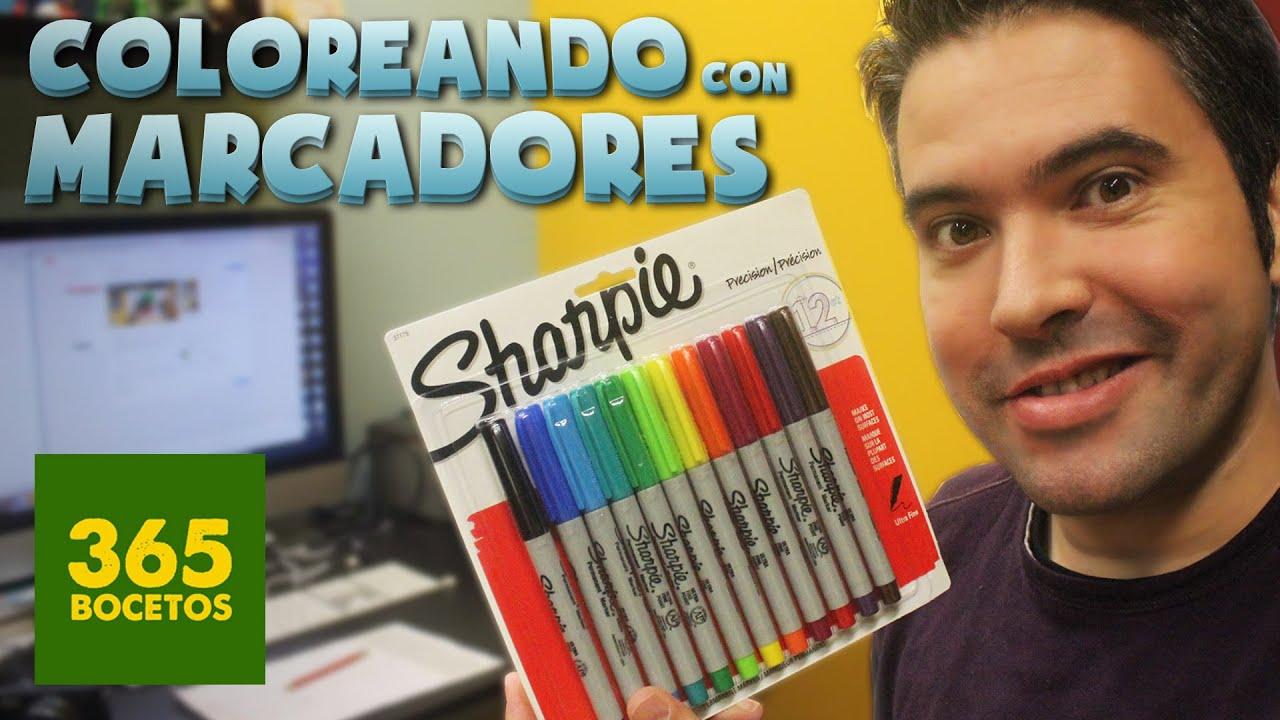 COLOREANDO CON MARCADORES SHARPIE - MATERIALES DE ARTE - Sharpie ...